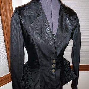 Enita Black Cheetah Print Women's Blazer M